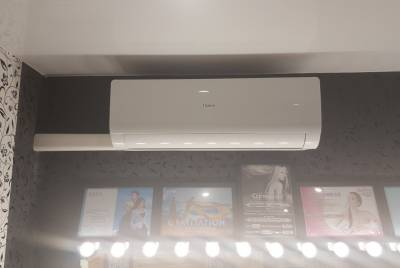 Поставка и монтаж кондиционера HAIER в салоне красоты в ЖК Цветы